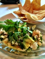 Fish and Shrimp Ceviche at Perla's