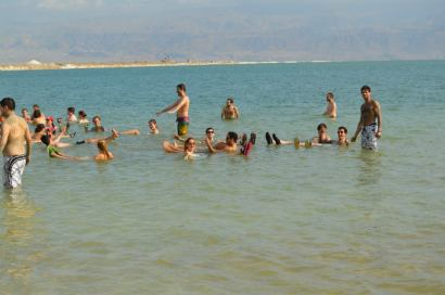 Stereotypical floating Dead Sea pic - shout out to Barry for his paparazzi skills