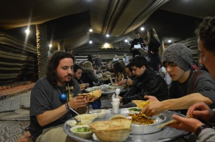 Food at the Bedouin tents
