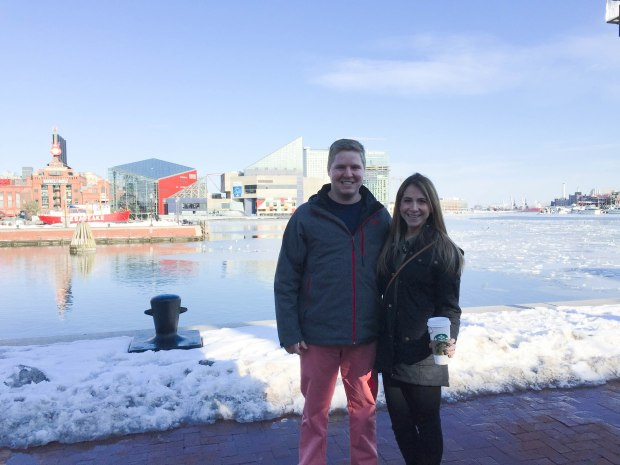 frozen inner harbor Baltimore